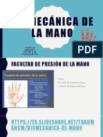 Biomecánica de La Mano