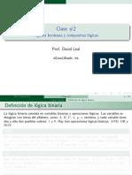 Clase 2 Algebra Booleana y Compuertas Logicas