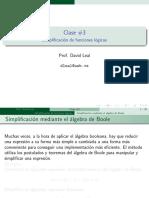Clase 3 Simplificacion de Funciones Logicas
