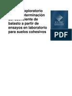 Estudio exploratorio para la determinación del coeficiente de balasto a partir de ensayos en laboratorio para suelos cohesivos