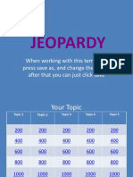 Basic Jeopardy Template 2003