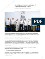 Alianza del Pacífico y Mercosur suman esfuerzos de integración entre Latinoamérica y el Caribe.