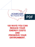 105 Ways You Can Reduce Your Energy Costs