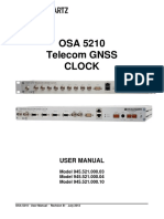 OSA 5210 Telecom GNSS Clock Manual