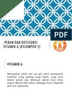 Peran Dan Defisiensi Vitamin a (1nn)