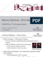 Johnson Matthey - Mercury Removal in Oil & Gas