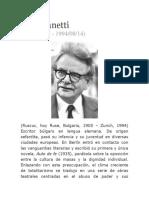 Biografia de Elias Canetti