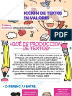 Produccion de Textos en Valores Act