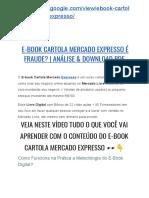→ E-book Cartola MERCADO EXPRESSO Resultados! | Análise Completa & Download PDF Grátis