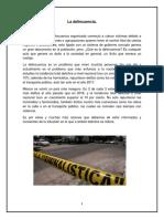 La delincuencia en México