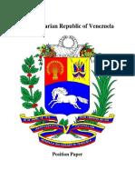 Venezuela Position Paper