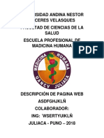Descripcion de Pagina Web