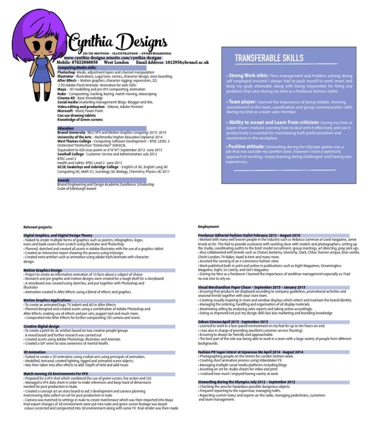 cv | 3 D Computer Graphics | Graphics