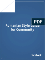 Facebook Romanian Translation Style Guide