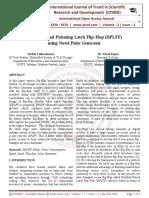 Design of Dual Pulsating Latch Flip-Flop (DPLFF) using Novel Pulse Generator