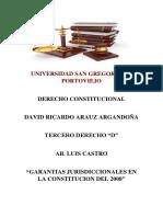 Garantias Jurisdiccionales en La Constitucion Del 2008