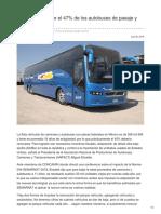 Necesario renovar el 47% de los autobuses de pasaje y turismo.