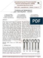 """Design Evaluation and Optimization of IC Engine Connecting Rods '"""" A Review"""