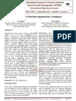 Brain Tumor Detection Segmentation Techniques