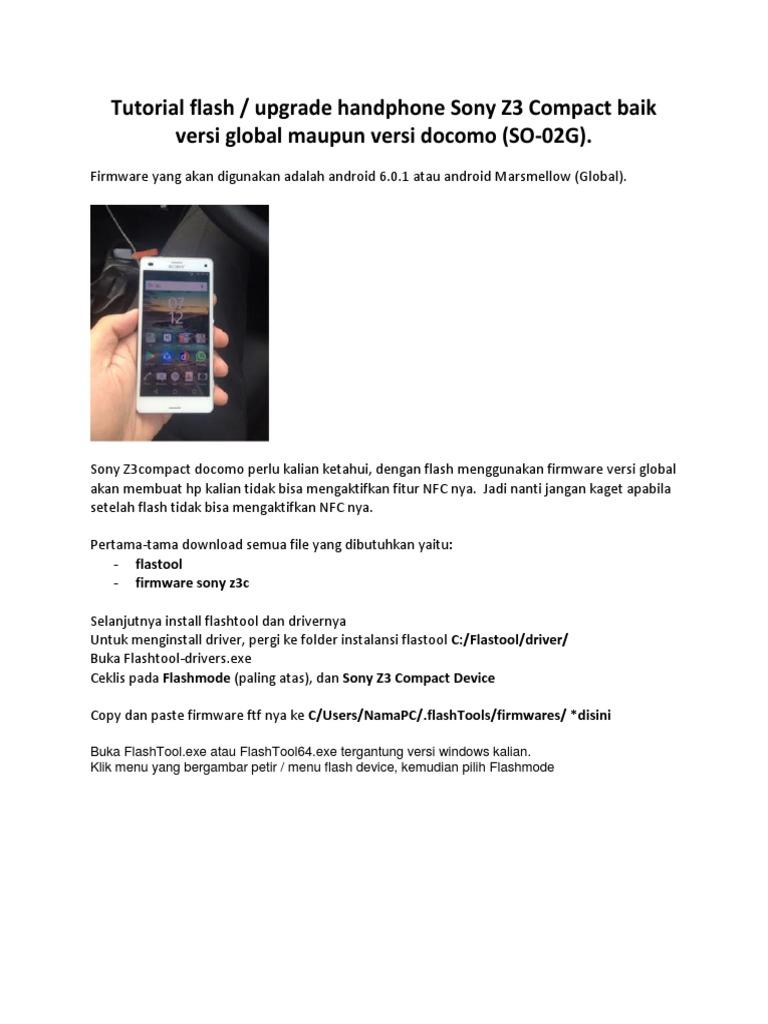 Tutorial Flash Sony Z3 Compact Docomo Global
