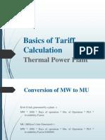 Basics of Tariff Calculation