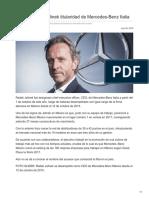 Asume Radek Jelinek titularidad de Mercedes-Benz Italia