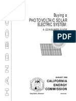 - Buying a Photovoltaic Solar Electric System.a Consumer Guide