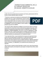 IMPACTO DE LA NORMATIVIDAD AMBIENTAL EN LA RENOVACIÓN DEL PARQUE VEHICULAR, CONFERENCIA DE MIGUEL HEBERTO ELIZALDE LIZÁRRAGA.