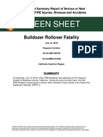 Cal Fire Bulldozer Rollover Fatality Green Sheet