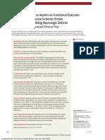 RCT Alteplase vs Aspirin Stroke