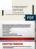 Not for Profit Entities