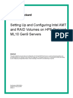 Set Up and Configure Intel AMT and RAID on HPE Proliant ML10 Gen9 Servers