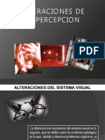 Alteraciones perceptuales