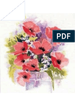 Watercolor Poppies Stitch Pattern