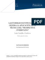 Posbibles Injusticias Genera Aplicacion Tecnica Prospective Overruling