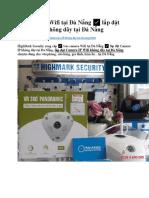 Bán camera Wifi tại Đà Nẵng ✅ lắp đặt Camera IP không dây tại Đà Nẵng