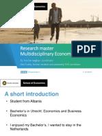 Multidisciplinary Economics Utrecht