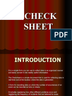 Ppt Check Sheet