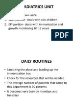 Paediatrics Unit
