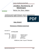 Performance Ofpakistani Mutual Funds,Final Project Purposal