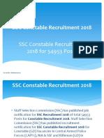 SSC Constable Recruitment 2018