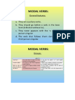 Modal Verbs and Modal Perfect