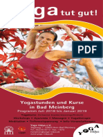 Kursprogramm Bad Meinberg Yoga Vidya