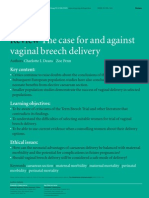 The Case for and Against Vaginal Breech Delivary