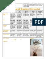 observational homework rubric