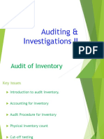 5. AC414 - Audit and Investigations II - Audit of Inventory