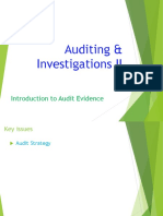 2. AC414 - Audit and Investigations II - Introduction to Audit Evidence