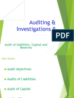 9. AC414 - Audit and Investigations II - Audit of Payables,Capital and Reserves I