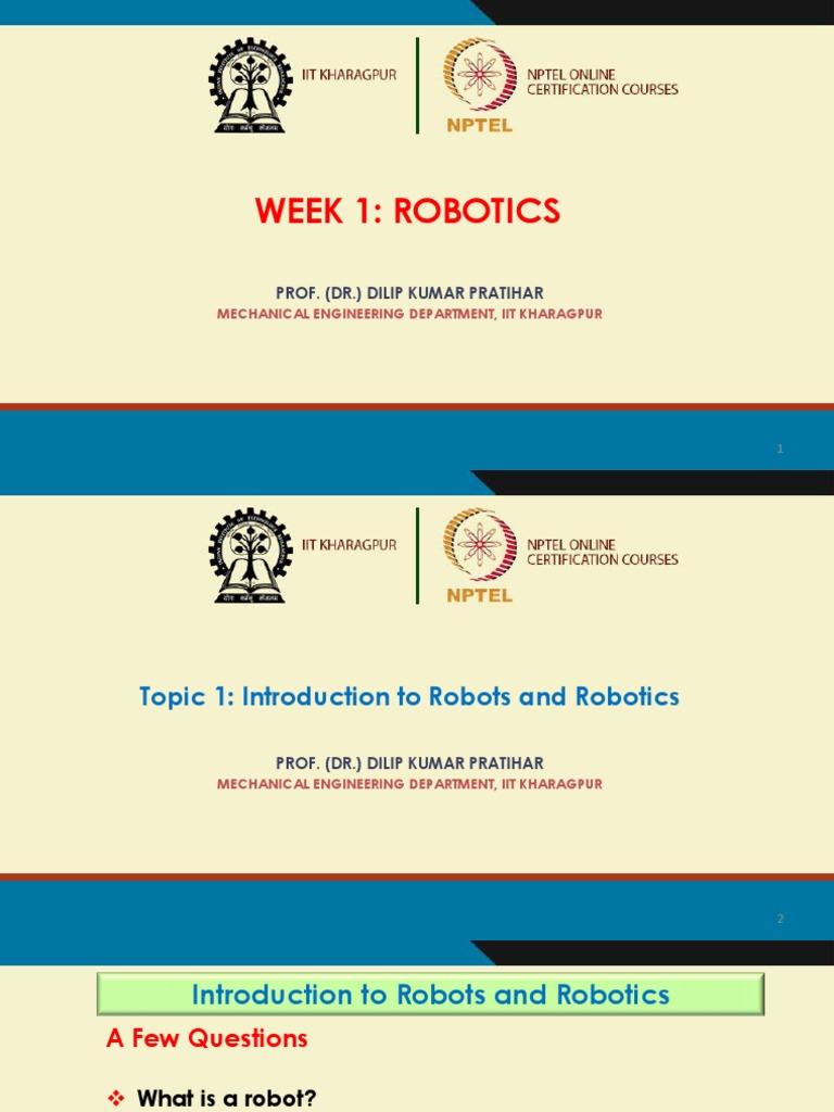 Week 1   Robotics   Engineering