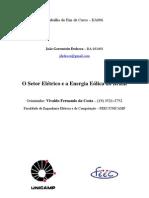 O Setor Elétrico e a Energia Eólica no Brasil